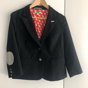 Anthropologie ETT TWA wool blazer with patchwork
